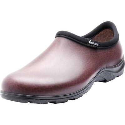 SLOGGERS 5301BN11 MEN'S RAIN AND GARDEN SHOES, SIZE 11, BROW