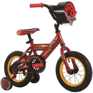 Huffy Disney Cars Bike with Tire Case - 12 inch