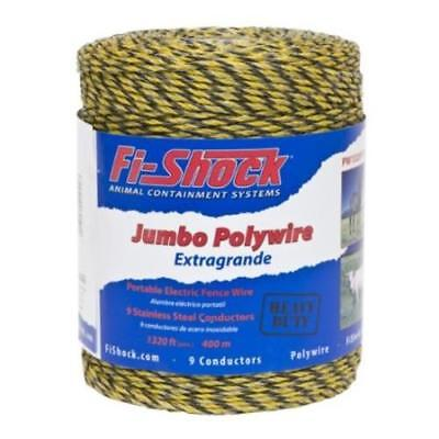 Fi-shock Pw1320y9-fs Electric Fence Poly Wire Yellow 1320039