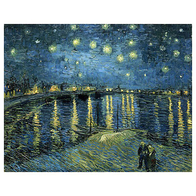 Starry Night Over the Rhone Van Gogh Art Repro Canvas Prints Home Decor Framed