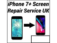 Iphone 7 and 7 PLUS Screen Phone Repair Replacement Service, Cracked screen