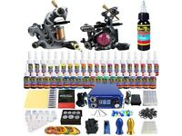 Tattoo Kit 2 Machine Set Power Supply 40 Ink