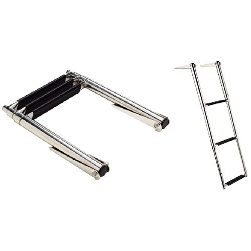 top mount 3 step stainless steel fold up telescoping