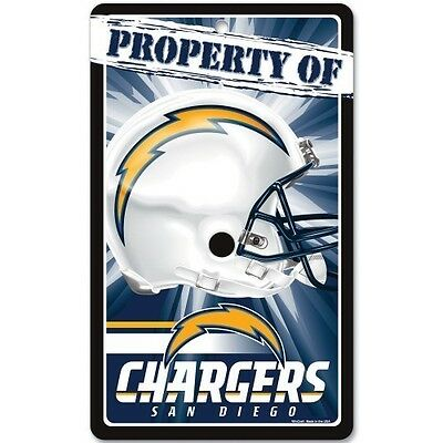 San Diego Chargers Display - SAN DIEGO CHARGERS ~ 7.25 x 12 Property of Wall Display Helmet Sign Decoration