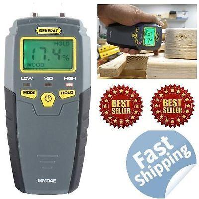 New Digital Moisture Meter Detector Tester Wood Firewood Concrete Drywall Ships