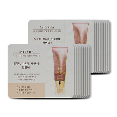 [Sample][Missha] M Signature Real Complete BB Cream SPF25 PA++ #21 x 20PCS