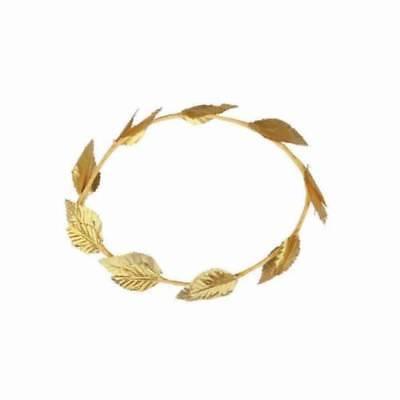 Gold Laurel Blatt Römisch Griechisch Kopfbedeckung Toga Göttin Kostüm Erwachsene (Goldene Göttin Erwachsenen Kostüme)