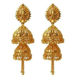 jhumka with earrings product water color rings indian gold