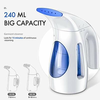 Hilife Steamer for Clothes,Handheld, Mini Travel, Fabric Steam Iron 240ml (Best Fabric For Clothes)