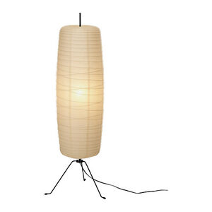 Ikea sore floor lamp height 100 cm rice paper shade light tall ebay - Lampadaire papier ikea ...