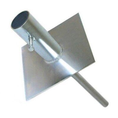 Telescoping Antenna Mast Pole Ground Mount Heavy Duty Base Easy Up EZ 32C