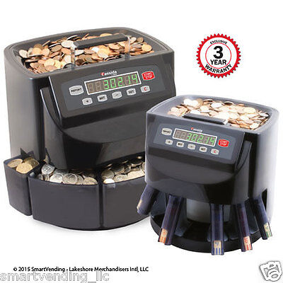 Cassida C200 Commercial Electronic Coin Counter Sorter With 3 Year Ext Warranty