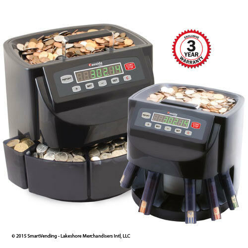 Cassida C200 Commercial Electronic Coin Counter Sorter with 3 Year Ext Warranty!