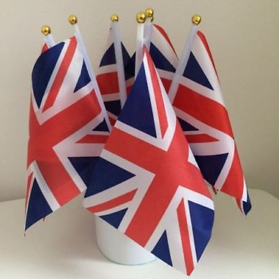 100pcs Union Jack Hand Waving Flag Royal Jubilee UK GB Great Britain Flags