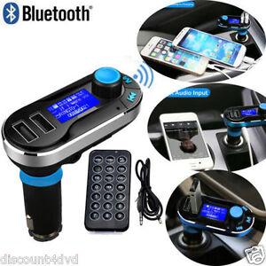 Car FM Transmitter Music MP3 Kit Wireless Bluetooth Radio Player With DUAL USB