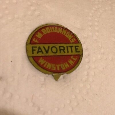 Vintage F.M. BOHANNON'S FAVORITE  Tobacco Winston Salem N.C Litho Tag
