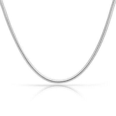 3mm sterling silver 925 Italian round snake link chain necklace bracelet -