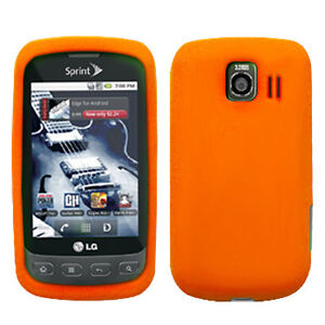 Silicone Soft Rubber Cover Case for LG Optimus S / Optimus U / Optimus V LS670