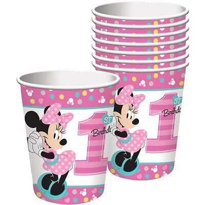MINNIE MOUSE Fun to Be One 9oz PAPER CUPS (8) ~First Party Supplies 1st Drinking