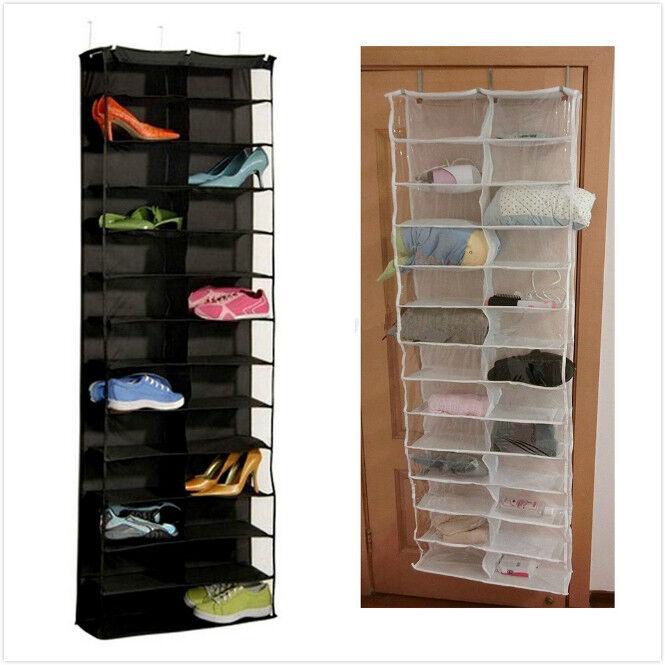 h ngeaufbewahrung schuhregal t r wand 26 schuhe organizer. Black Bedroom Furniture Sets. Home Design Ideas