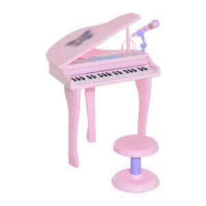 Mini Electric grand digital Piano with Stool and microphone