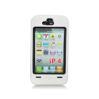 White/ Black Hybrid Hard Case Cover for iPhone 4 / 4S 4s White Hard Case