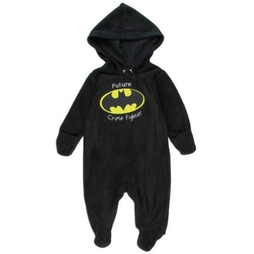 NWT Baby Boy Batman Fleece One piece Sizes 0-3, 3-6, 6-9 months