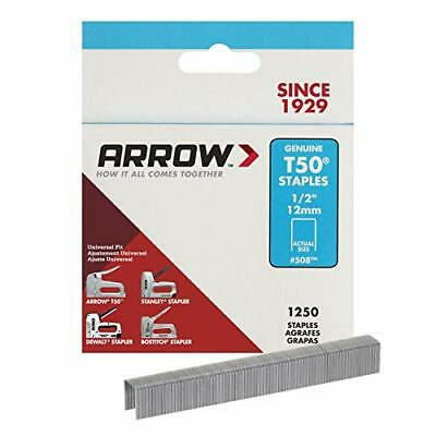 "Arrow 508 Genuine T50 1/2-Inch Staples, 1,250-Pack 1/2"""