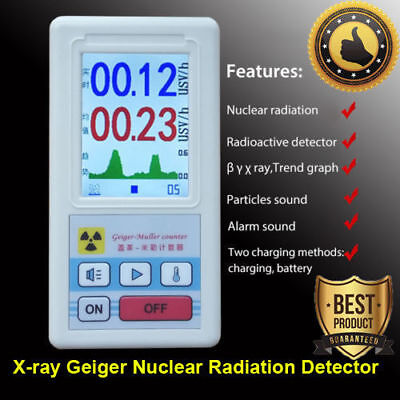 Pro Geiger Counter Nuclear Radiation Detector X-ray Beta Gamma Tester Meter