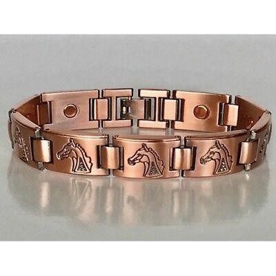 ARTHRITIS HORSE COPPER  MAGNETIC BRACELET MAGNET IN EVERY LINK  6490 (Copper Link Magnetic Bracelet)