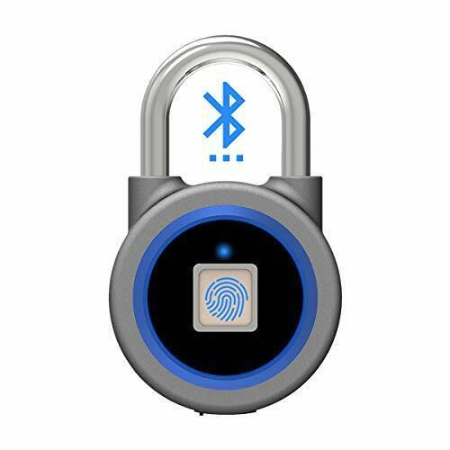 Smart Fingerprint Lock, Bluetooth Padlock, Keyless Biometric Lock, Waterproof,