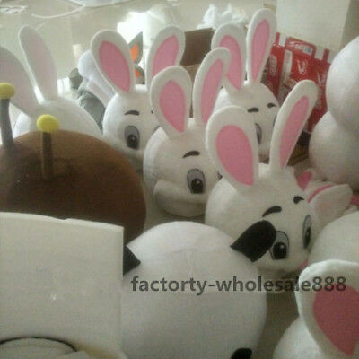Easter Bunny Mascot Costume Rabbit Cosplay Adult Fancy Dress just head handmade (Costume Rabbit)