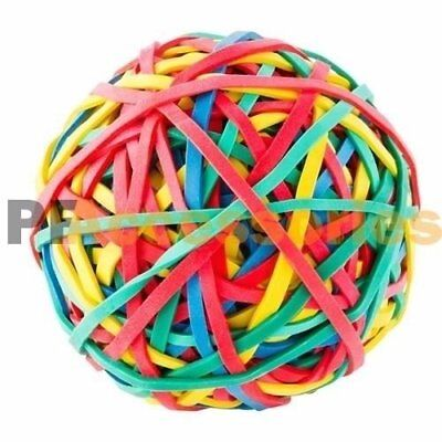 240 Ct Assorted Color Rubber Band Ball 5.3 Ounces For Office Home Desk New
