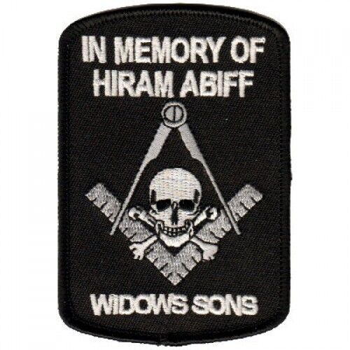 In Memory of Hiram Abiff Patch Widow Sons Patch