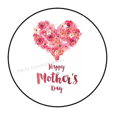 30 HAPPY MOTHER'S DAY ENVELOPE SEALS LABELS STICKERS PARTY FAVORS 1.5