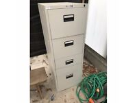 Grey Metal Four Drawer Filing Cabinet Delivery Available
