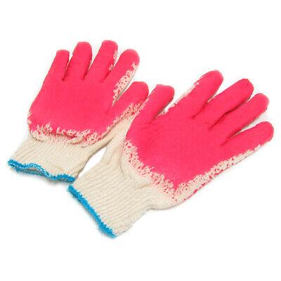 Korean Red Latex Palm Coated Cotton Grip Glove, Work & Gardening Glove 10 Pairs