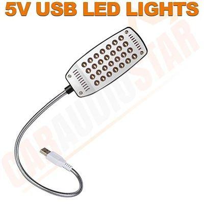 Mini Flexible USB 28 LED Lamp Light for Laptop Notebook Computer PC Reading