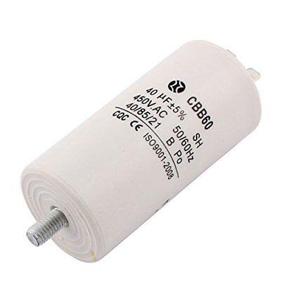 Cbb60 Ac 450v 5060hz 40uf 8mm Thread Non Polar Polypropylene Film Capacitor