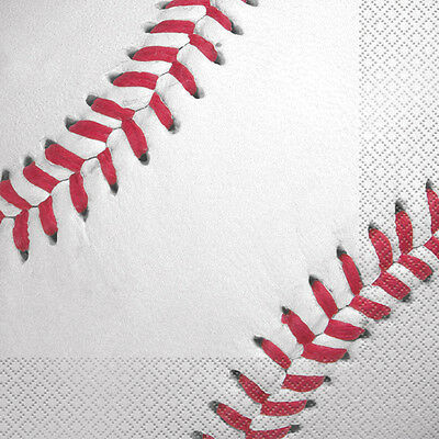 BASEBALL LUNCH NAPKINS (16) ~ Sports Birthday Party Supplies Serviettes MLB - Baseball Napkins