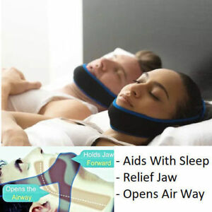 Anti Snore Stop Snoring Sleep Apnea Strap Belt Jaw Solution Chin