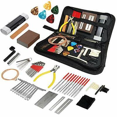 72PCS Guitar Tool Kit,Professional Guitar Repairing Maintenance Tool Kit