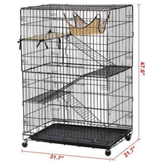 120 cm 3 Levels Bird Parrot Cage Aviary Ferret Cat Budgie Hamster