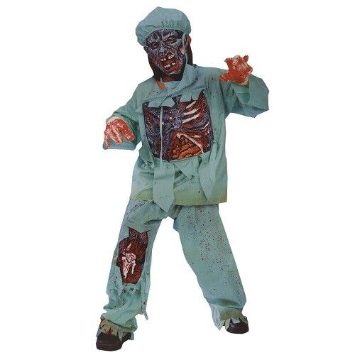 Totally Ghoul Zombie Doctor Kids Halloween Dr. Scrubs Costume Child Medium 8-10