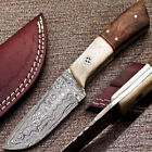Damascus Steel Blade Tanto Ambidextrous Collectible Folding Knives