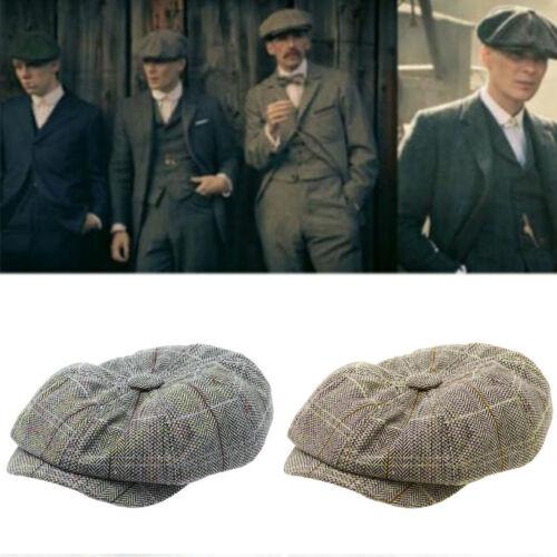 neues Konzept neue Liste outlet Details about Mens Flat Cap Herringbone Tweed Newsboy Bakerboy Peaky  Blinder Style Gatsby Hat