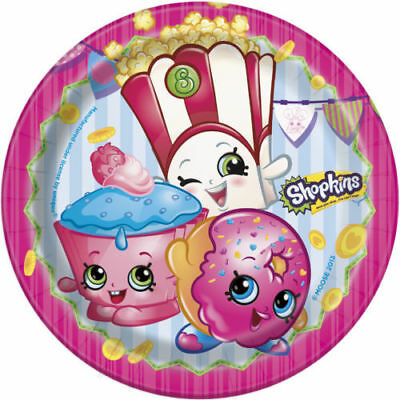 Dessert Buffet Supplies (SHOPKINS DESSERT PLATES Birthday Party Supplies Buffet Tableware 6 3/4 inch)