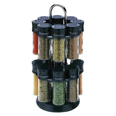 Olde Thompson 25-600B 16-Jar Spice Carousel Olde Thompson Spice Jars