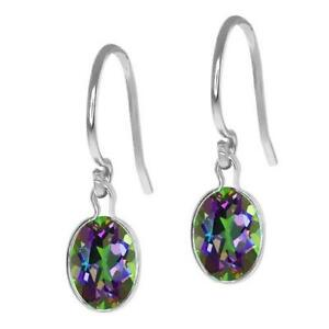 com topaz oval walmart mystic ip magenta cut ct earrings