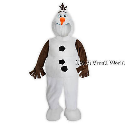 Disney Store Olaf Plush Costume for Kids Boy Girl Frozen One Piece Sz 4 5 6 NWT](Disney Frozen Costume For Adults)